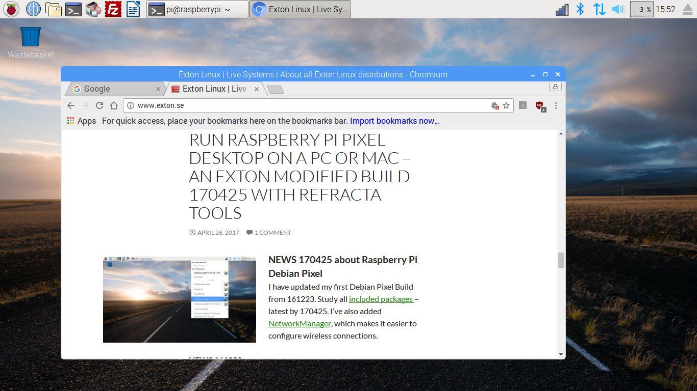 Run Raspberry Pi's PIXEL Desktop on a PC or Mac – an Exton